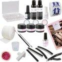 Veronica NAIL-PRODUCTS Compleet starterspakket acrylnagels, kunstnagels starterset, beginnerspakket, incl. handleiding in het Nederlands