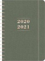 Hobbit schoolagenda 2020/2021 - luxe - D2 - canvas - donker groen - formaat A5