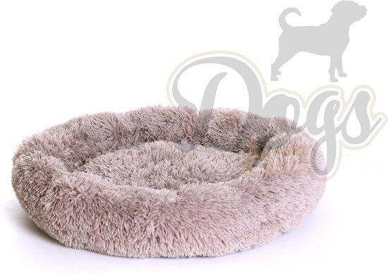 Luxe katten & hondenmand - Donut - Heerlijk zacht - Fluffy - Khaki Bruin - 70 cm - Size M