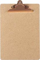 LPC  Klembord - clipboard - hout/mdf/hardboard- A4 -145 mm butterfly klem koper