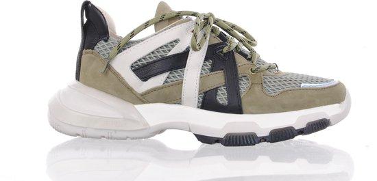 BRONX grijs/groene herensneaker