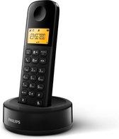 Philips D1601B/01- Draadloze DECT-telefoon met 1 handset, groot display (4,1 cm) en nummerherkenning - Zwart