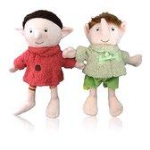 De Gorgels Bobba & Belia - Set van twee pluche knuffelpoppen - 30 cm