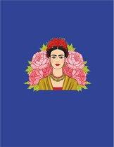 Planner Hardcover Frida Kahlo - Blauw - 216 pagina's - Week - Dag - Jaar - Luxe Planner - Organiseren - Plannen