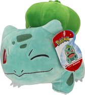 Pokémon Knuffel Bulbasaur Junior 20 Cm Pluche Blauw/groen