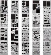 20 stuks - Mijn Bullet Journal Stencils - Bullet Journal Producten
