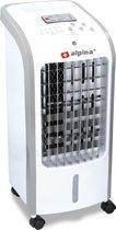 Alpina air cooler - luchtkoeler – luchtbevochtiger - wit – met afstandsbediening en timer - 3 ventilatiestanden - tot wel 270m3