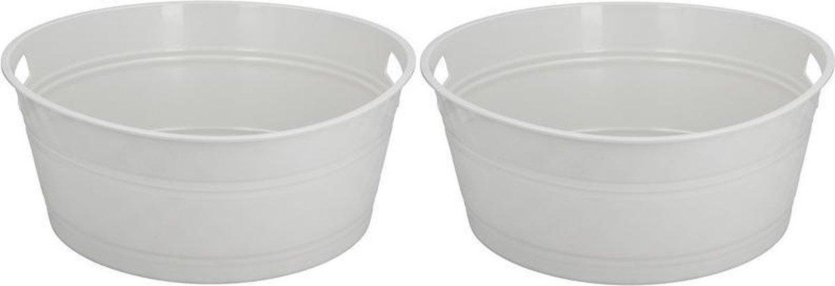 2x IJs of drankjes koel emmer 45 x 18 cm - Drankkoelers - IJsemmers - Merkloos