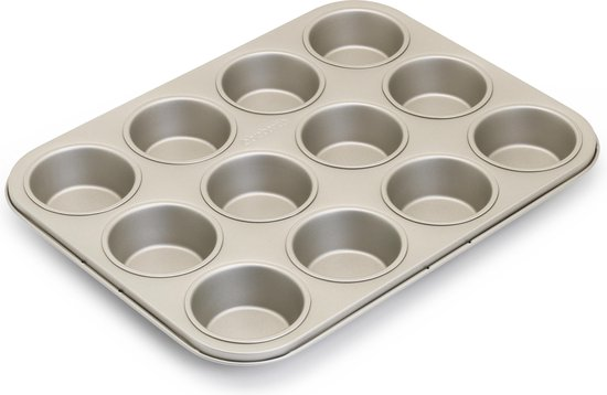 Brabantia Muffinvorm - met Anti-aanbaklaag - 12 muffins - Champagne