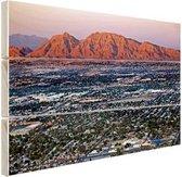 Las Vegas en omgeving Hout 80x60 cm - Foto print op Hout (Wanddecoratie)