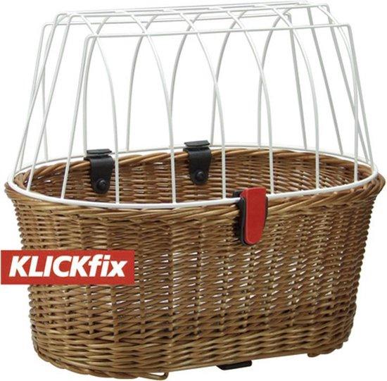 KlickFix Rixen & Kaul - Fietsmand voor honden - Achter - Achter - 40 l - Bruin