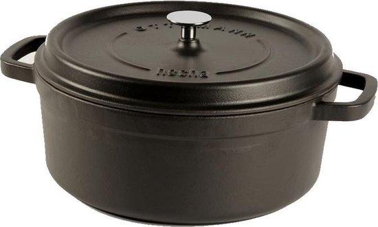 Cuisinova Braadpan - Gietijzer - 5,5 liter - 28 cm - Zwart