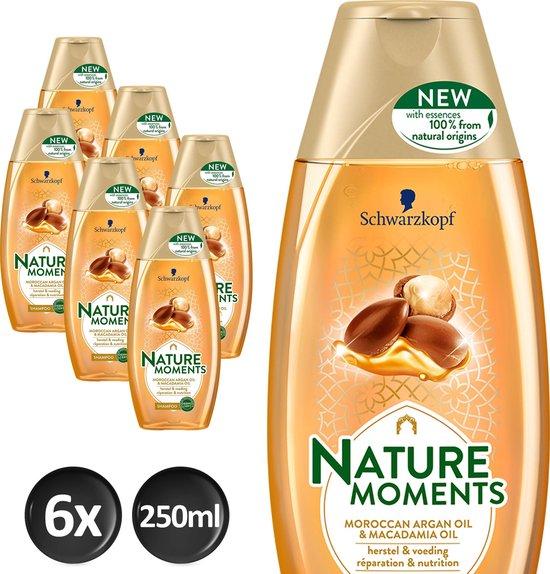 Schwarzkopf  Nature Moments Moroccan Argan Oil&Macadamia Oil Shampoo  - 6 stuks