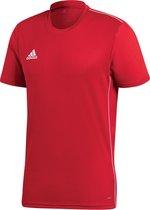 Adidas Core 18  Sportshirt Heren - Power Red/White - Maat L
