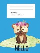 Composition Notebook Hello Teddy Bear