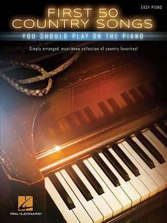 Boek cover First 50 Country Songs van Hal Leonard Corp. (Hardcover)