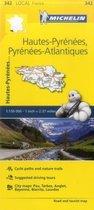 Hautes-Pyrenees, Pyrenees-Atlantiques - Michelin Local Map 342