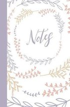 Notes: Heart Leaves Pattern Notebook for Women