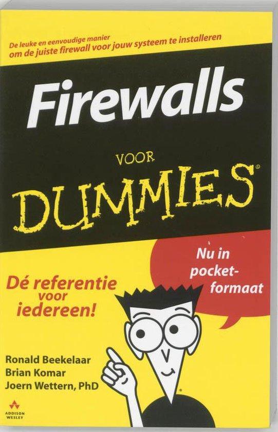 Cover van het boek 'Firewalls voor Dummies'