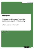 'Demian' von Hermann Hesse. Eine tiefenpsychologische Betrachtung