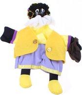Tom Poppenkastpop Zwarte Piet 25 Cm Geel/paars