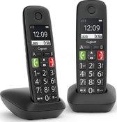 Gigaset E290E - Duo Senioren DECT telefoon - Zwart