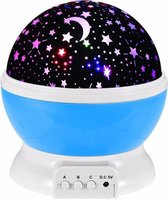 Sterrenhemel Verlichting Kinderkamer - Moon Light Projector - Nachtlampje kind | baby - Nachtlamp - Snoezellamp - Spacelamp - Cadeau kind + Bijbehorende oplaadkabel -  (blauw)