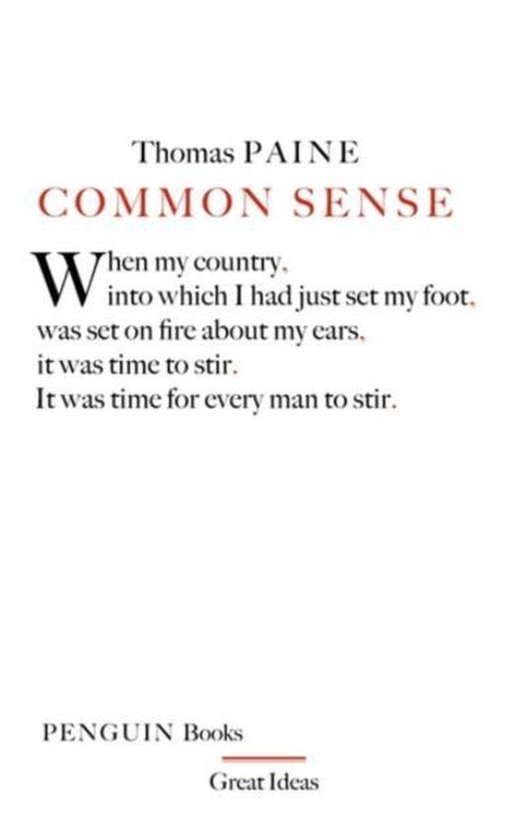 Boek cover Common Sense van Thomas Paine (Paperback)