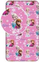 Disney Frozen Hoeslaken Eenpersoons 90x200+25 Roze