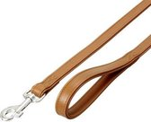 Nordic leash cognac, 14mm 110cm calfskin