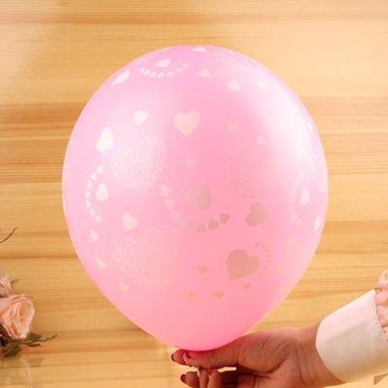 Ballonnen Love roze-wit