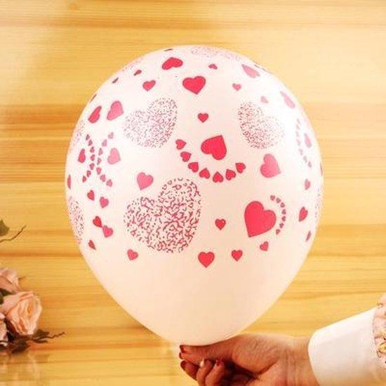Ballonnen Love roze-wit wit-rood