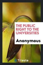 The Public Right to the Universities