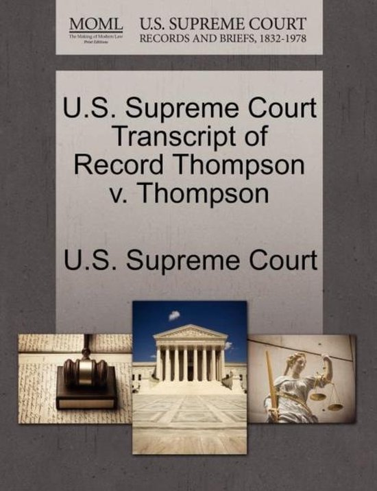 U.S. Supreme Court Transcript of Record Thompson V. Thompson