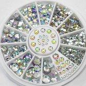 3D Diamond Nail Art Steentjes Set - Strass Nagel Hotfix Rhinestones - Nagel Decoratie