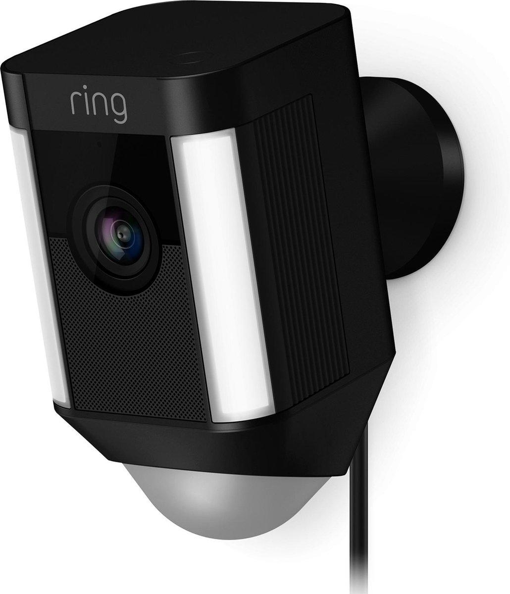 Ring Spotlight Cam Plug-in - Beveiligingscamera - Bedraad - Zwart