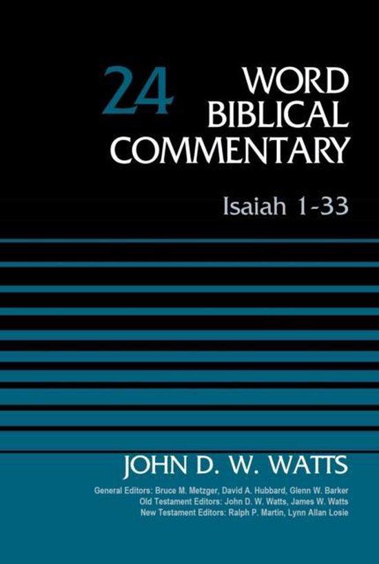 Boek cover Isaiah 1-33, Volume 24 van John D. W. Watts