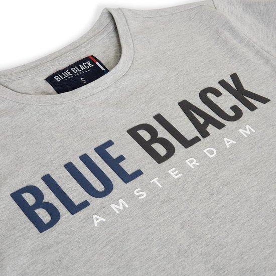 Blue Black Amsterdam T-shirt Jongens ronde hals Tony - Grijs Melange - 152