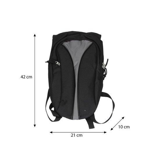 Kleine Sportieve Rugzak Unisex Zwart Grijs – 42x21x10cm | Rugtas Klein | Backpack - Merkloos