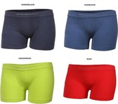 Brubeck Comfort | Jongens Ondergoed Boxer 4 stuks – Seamless Katoen – 4 kleuren  - 140/146