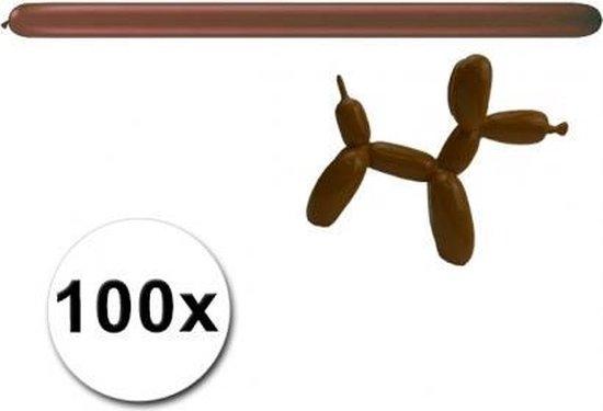 Bruine modelleer ballonnen 100 stuks