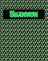 120 Page Handwriting Practice Book with Green Alien Cover Shannon