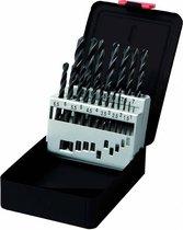 Labor 19-delige HSS-R Metaalborenset, Rolgewalst, Dia: 1,0 - 10,0 mm / 0,5mm oplopend. In stevige cassette. Per set.