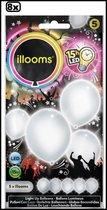 8x Led ballonnen wit 5 stuks