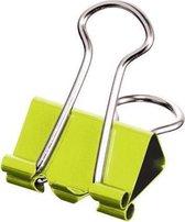 Maped foldbackclip klein model 19 mm verpakt in een ophangdoosje 10 stuks: groen blauw violet ge...