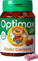 Optimax Kinder Cranberry Vanaf 1 Jaar - Voedingssupplement - 60 Kauwtabletten
