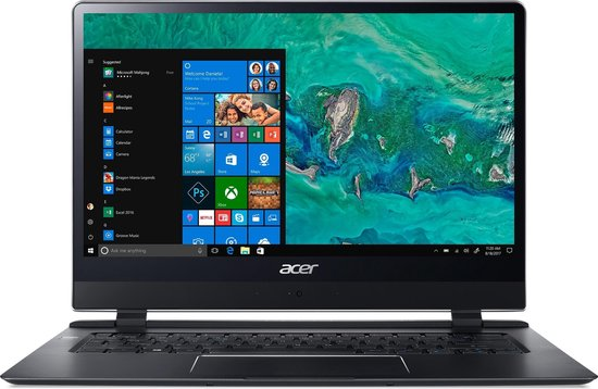 Acer Swift 7 SF714-51T-M9NF Zwart Notebook 35,6 cm (14'') 1920 x 1080 Pixels Touchscreen Zevende generatie Intel® Core™ i7 8 GB DDR3-SDRAM 256 GB SSD Windows 10 Pro