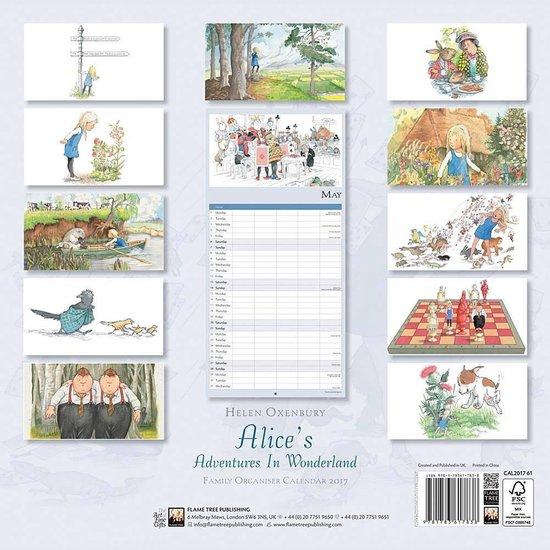 Alice's Adventure in Wonderland Family Organiser Wall Calendar 2017