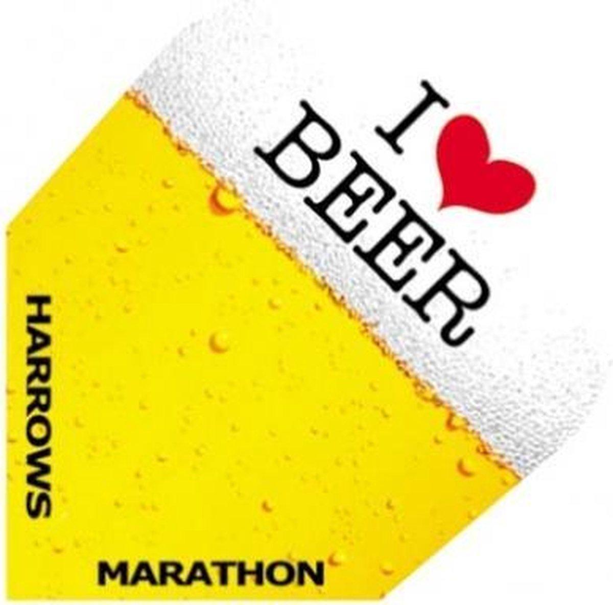 Harrows Darts Flight 1534 Marathon I Love Beer 3 Stuks