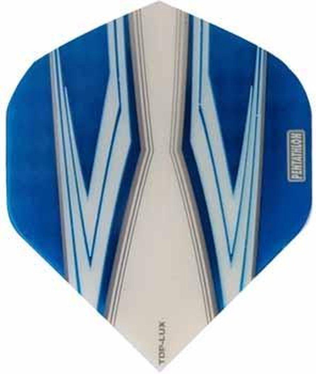 ABC Darts Flights Pentathlon - Spitfire W lichtblauw - 10 sets
